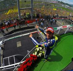 Only the Doctor gets a crowd like this! Grand Prix, Vale Rossi, Valentino Rossi 46, Baby Koala, Motorcycle News, Vr46, Biker Chick, Beautiful Men, Champion