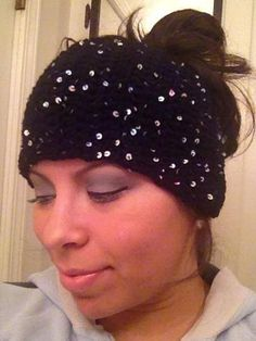 Rainbow Stars at Midnight (Sequins) Head Wrap Headband Ear by RAiNBOWNiKKi, $20.00