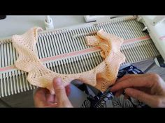 Bordure 6 - YouTube Brother Knitting Machine, Knitting Machine Patterns, Fair Isles, Crochet Stitches, Granny Squares, Sewing, Handmade, Crabs, Knitting Videos