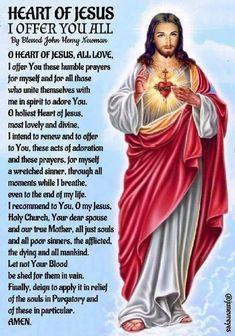 Holiest heart of jesus daily prayer, god prayer, prayer cards, jesus quotes, Spiritual Prayers, Prayers For Healing, Bible Prayers, Catholic Prayers, Catholic Quotes, Jesus Prayer, Prayer Verses, Faith Prayer, God Jesus