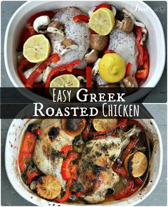 bake your boring chicken? Check out this Greek-style Roasted Chicken ...