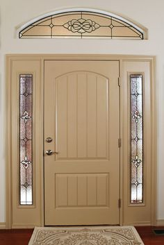Browse the beautiful stained glass window gallery at Scottish Stained Glass San Antonio. We offer a great selection of custom windows. Visit us today. Stained Glass Church, Stained Glass Art, Stained Glass Windows, House Entrance, Entrance Doors, Front Doors, Front Entry, Entry Door With Sidelights, Front Door Colors