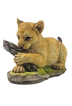 "8.5"" lion cub #statue #figurine wild animal #safari sculpture jungle decor,  View more on the LINK: http://www.zeppy.io/product/gb/2/191864169443/"