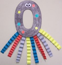 Oo is for Octopus craft with the letter O and accordion legs