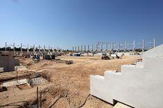 Baustelle der künftigen Continental Arena am 21. Juli 2014