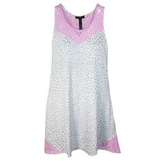 Pajama Drama Womens Lace Trim Tank Nightgown Large Multi * Find out more about the great product at the image link.