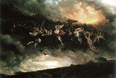 """""""Åsgårdsreien"""" (La Chasse d'Odin) de Peter Nicolai Arbo (1872). Bathory album """"Blood Fire Death"""""""