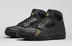 The Fab Five gets it's own tribute shoe in the Nike Air Flight Huarache  'Trash Talking', which is available now at the links below.