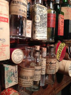 Found - tiny vintage apothecary collection as seen on our instagram