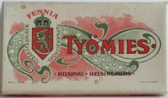 Tyomies Cigarettes from Finland Good Old Times, Old Ads, Finland, Retro Vintage, Nostalgia, Folk, Old Things, Memories, Graphic Design