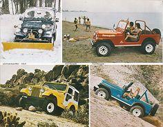 1978 Jeep CJ-5 with Snowplow, CJ-7 Renegade with Levi's Interior, Base CJ-5, and CJ-5 Renegade with Levi's Interior