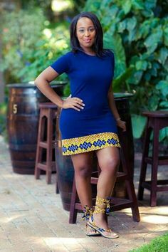 fr in love with this ethnic look - ~African fashion, Ankara, kitenge… African Dresses For Women, African Print Dresses, African Fashion Dresses, African Attire, African Wear, African Women, African Prints, Ankara Fashion, African Style