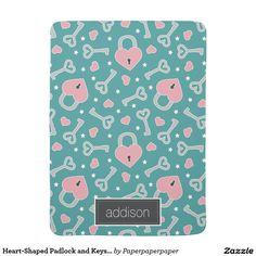 Heart-Shaped Padlock and Keys | Custom Name Swaddle Blanket