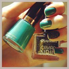 Caviar nails / Unhas de caviar
