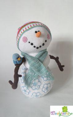 Frosty de Sneeuwman van Woolytoons.