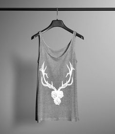 Antlers and Roses Tank - Hand Drawn Graphic by LafayetteFactory