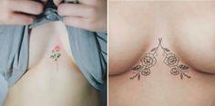 Inspirações de tattoos entre os seios