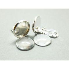 20 teilig Ohrcliprohlinge Cabochons 10mm Bronze clip earrings Rohlinge