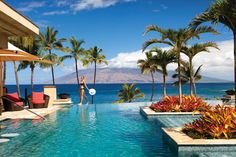 Four Seasons Resort on the island of Maui. It is a beautiful resort surrounded by volcanic terrain, white beaches, and crystalline waters teeming with aquatic wildlife. Maui was a wonderful vacation
