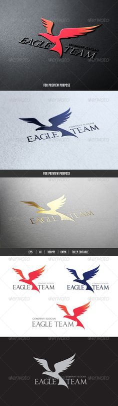 Eagle Team — Vector EPS #calligraphy #crest • Available here → https://graphicriver.net/item/eagle-team/7383357?ref=pxcr