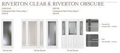 Riverton Clear & Riverton Obscure