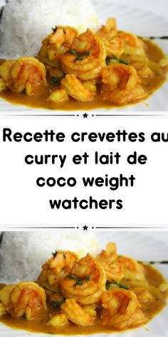 Weight watchers curry shrimp and coconut milk recipe Diet Salad Recipes, Easy Smoothie Recipes, Good Healthy Recipes, Plats Weight Watchers, Weight Watchers Meals, Weigh Watchers, Coconut Milk Recipes, Curry Shrimp, Indian Dishes