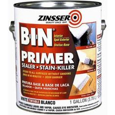 Zinsser 1-gal. White BIN Shellac Interior and Spot Exterior Primer and Sealer-00901 at The Home Depot