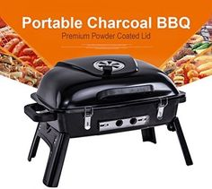 Pinty Portable Charcoal Grill Barbecue BBQ For Outdoor Use, 233 Square Inch…
