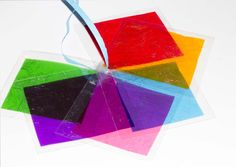 Sweet Wrapper Science For Kids - Explore light and colour mixing.