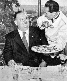 Oliver Hardy a pranzo a Roma