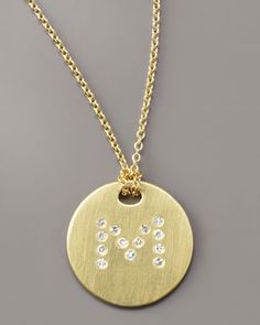 Letter Medallion Necklace, M by Roberto Coin at Bergdorf Goodman.