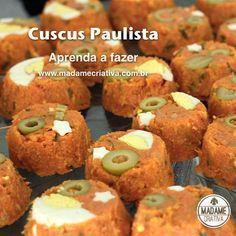 Receita cuscus paulista - Dicas de como fazer -How to make couscous paulista Recipe - DIY - Madame Criativa - www.madamecriativa.com.br                                                                                                                                                                                 Mais