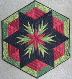 cactus rose quilt block paper piecing | this is my latest invention called cactus rose the center of the wall ...