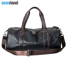 8b466ada47e Men s Large Capacity PU Leather Sports Bag Gym Bag Fitness Sport Bags  Duffel Tote Travel Shoulder Handbag Male Bag Black Brown    Shop 4 Xmas n  Locate this ...