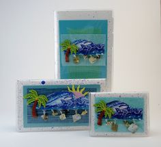 Day at the Beach Gift Set $32 Gift giving made easy with our coordinating gift sets.  Set includes address book, checkbook, and credit card case. This lovely beach design is sure to remind her of summers gone buy,with cool ocean breezes and smiling young faces. #checkbookcover  #giftideas  #giftset #palmtree  #beach  #jadesmenagerie