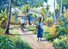 Landscape Sketch, Watercolor Landscape, Watercolor And Ink, Landscape Paintings, Watercolor Paintings, Watercolors, Landscapes, Amazing Paintings, Amazing Drawings