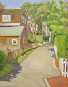 Twin Street, Nantucket by Meghan Weeks - Robert Foster Fine Art