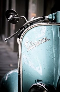 An homage to mod style - who needs a limo when a Vespa will do just nicely thank you very much