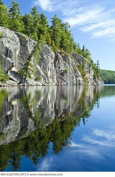 Granite Cliff, Rock Lake, Algonquin Provincial Park, Ontario, Canada - I went on a camping trip once up there. There was a bear making havoc in the camp. Sad when we invade their space.