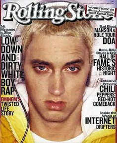slim shady. I remember this issue he had a Pix of him smoking from a foot long bong in it