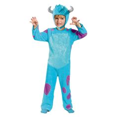 Monsters University Sulley Costume Small (4-6), Size: S(4-6), Multicolored