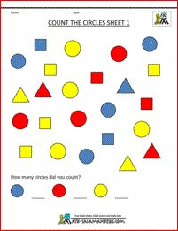 Shape Worksheets printable Count the Circles 1