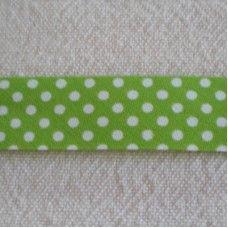 Biaislint groen stippen - 20mm