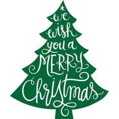 Silhouette Design Store: we wish you a merry christmas tree