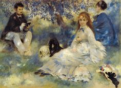 Pierre Auguste Renoir - Henriot Family, 1875 at Barnes Foundation Philadelphia PA from the Masterworks Collection Catalog