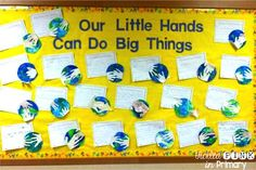 Earth Day bulletin board with a FREE writing prompt!