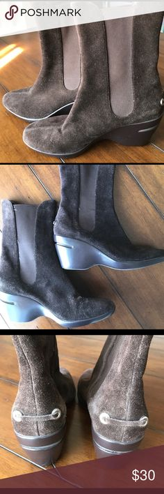 Cole haan wedge boots great condition Cole Haan Shoes Winter & Rain Boots