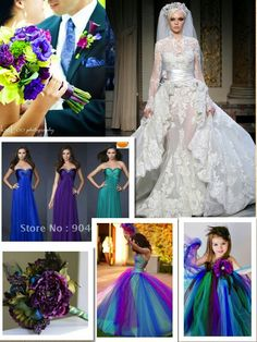 I like the bridesmaid and flower girl dresses