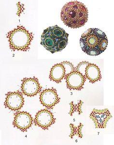 Beading Projects, Beading Tutorials, Peyote Patterns, Beading Patterns, Beaded Jewelry Patterns, Seed Bead Jewelry, Loom Beading, Bead Art, Bead Weaving