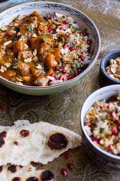 Thai Peanut Chicken and Pumpkin Curry w/Sticky Pomegranate Rice | halfbakedharvest.com @hbharvest
